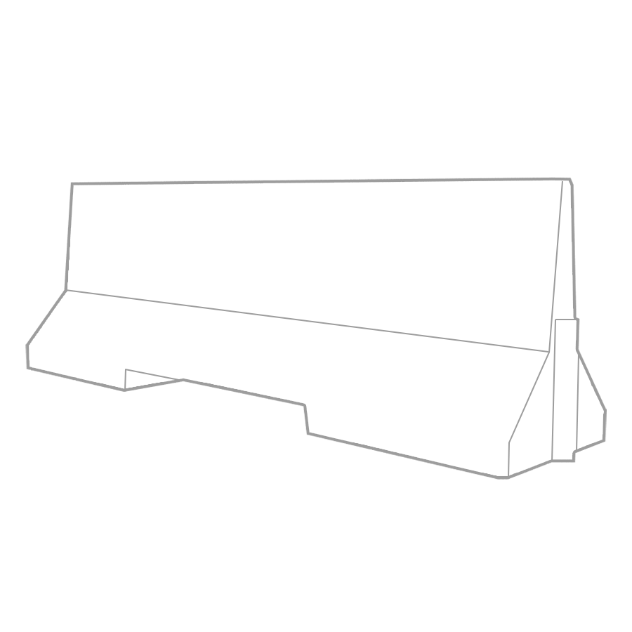 2500mm Concrete Barriers