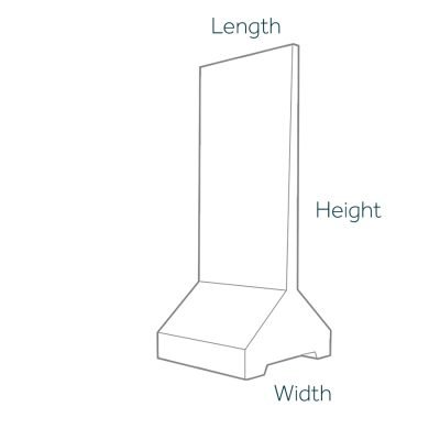 Free Standing Retaining Wall Dimensions